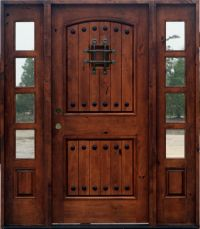 Rustic Doors with Sidelights - Knotty Alder Wood Doors ...