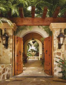 Mexican Hacienda Style Courtyard Gate