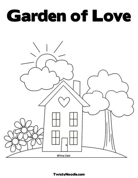 Coloring pages.. house.. this will print full screen for