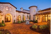 Entry Courtyard of Tuscan style home, Austin, Texas ...