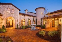 Tuscan Style Homes with Courtyard