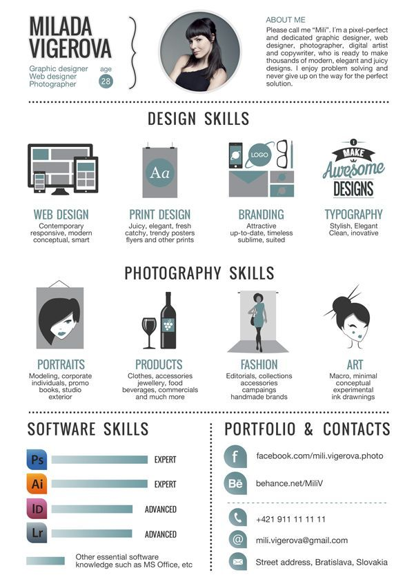 30 Examples Of Creative Graphic Design Resumes Infographic