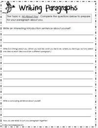 Paragraph Worksheet | Grade 5 | Pinterest | Paragraph ...