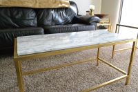 Ikea Vittsjo Coffee Table Hack covered in faux marble or ...
