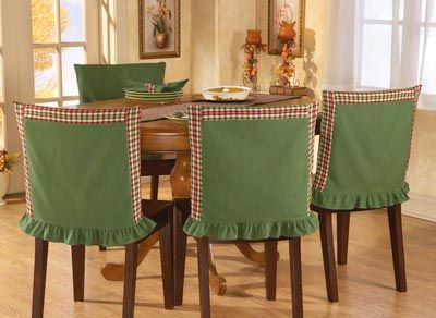 Red Amp Green Plaid Chair Back Covers Works For