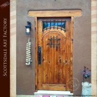 Solid wood doors custom designed in rustic style includes ...