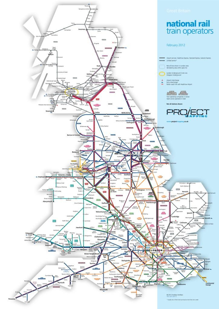 Map Of National Rail Train Operators By Project Mapping You Can