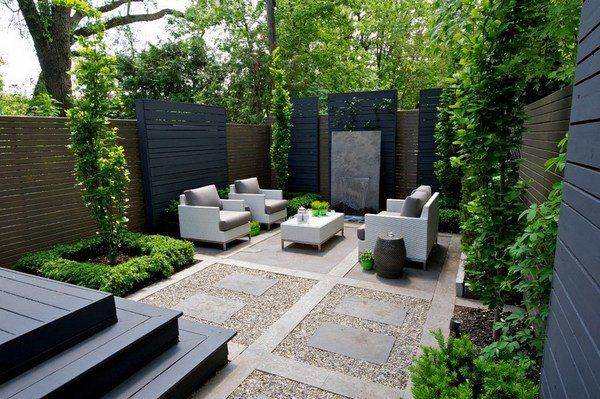 Best Small Garden Ideas Sandstone Paving Stones Privacy Wall