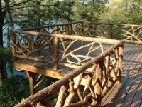 "rustic railings | Hand Made Rustic Cedar ""Cracked Ice ..."