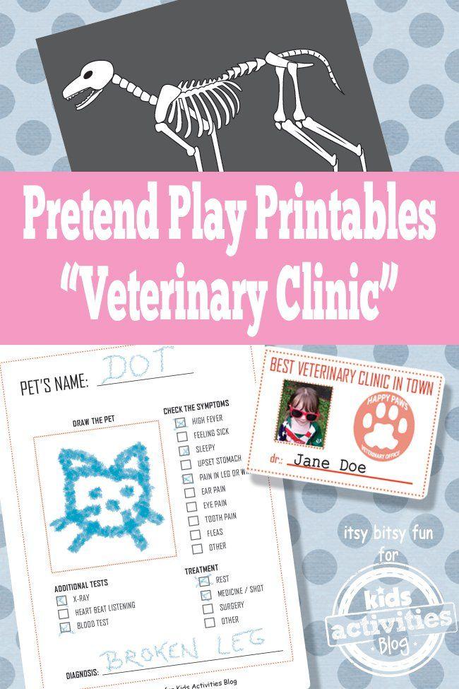 VET PRETEND PLAY FREE KIDS PRINTABLES Kid Printables Pretend