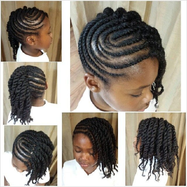 Cute Flat Twist Updo With Curvy Parts Kid Style Pinterest