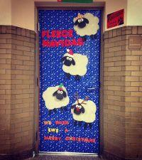 Classroom door #feliznavidad #fleecenavidad # ...