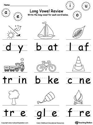 The 25+ best Long vowel worksheets ideas on Pinterest