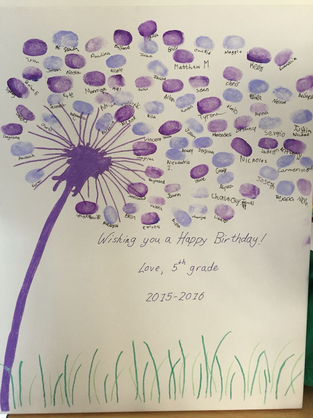 Teacher's Birthday T From Students School