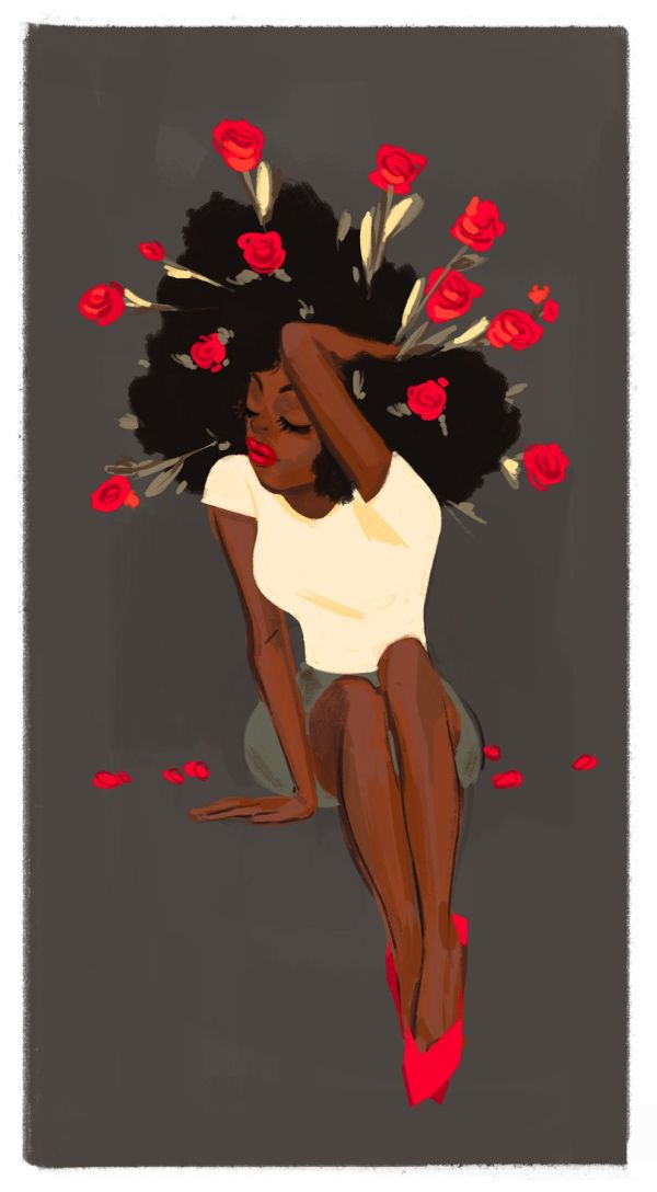 Sexxxpensive Luv Black Girls Killing Tee . Jake Natural Hair Art