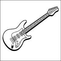 Elegant Malvorlage Gitarre Kostenlos   Top Kostenlos ...