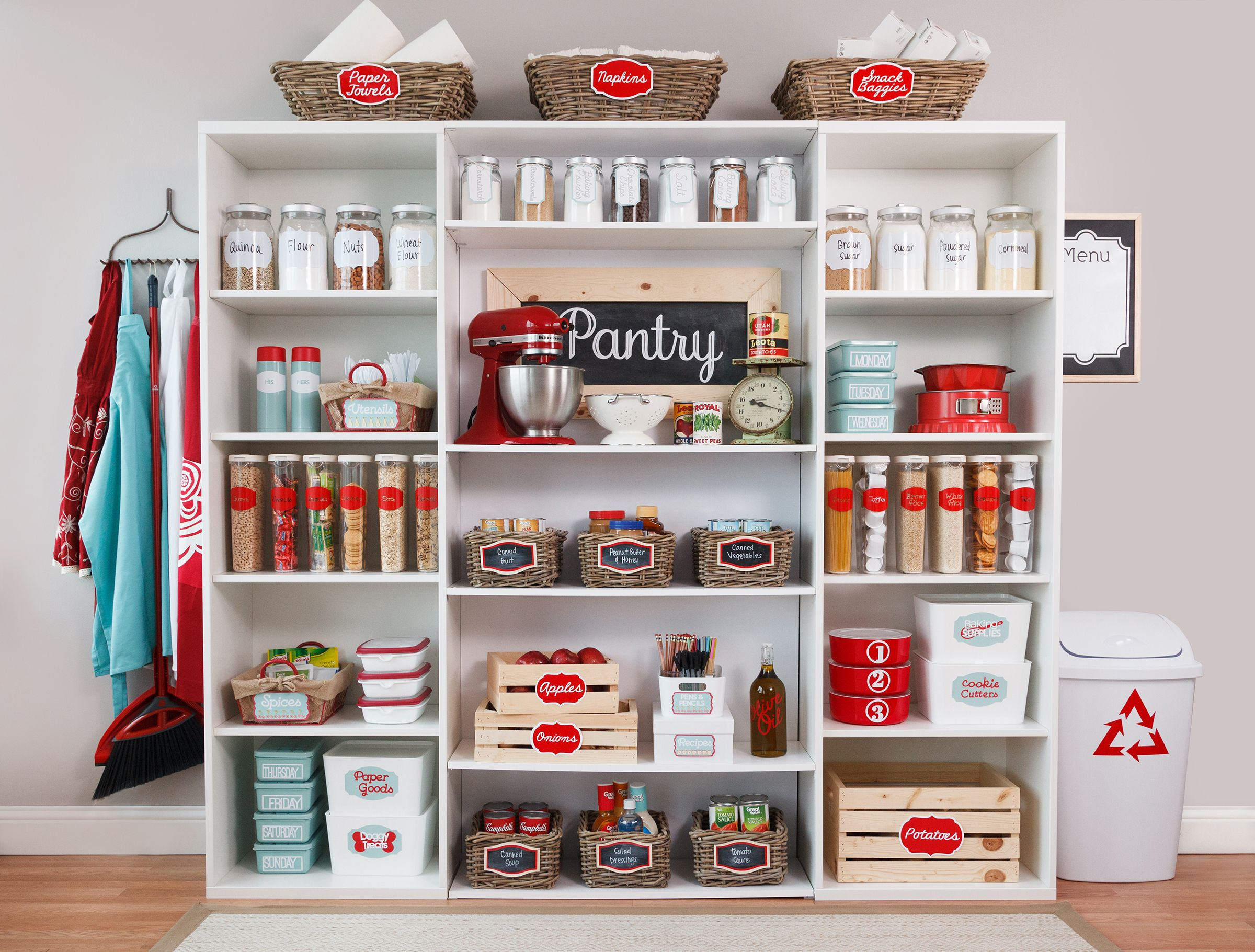 Organize your pantry from top to bottom with the new Home Organization Cricut cartridge and the