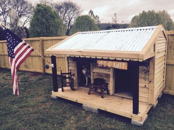 Stylish Pallet Dog Houses Designs Wooden Pallets Pallets And Dog