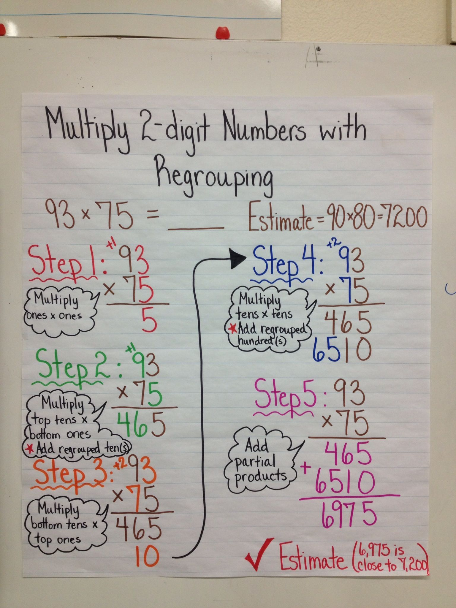 Two Digit By 2 Digit Multiplication Worksheet