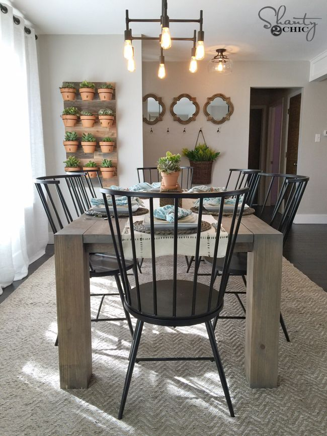 island inspired living room furniture how to decorate my with a sectional diy modern farmhouse table as seen on hgtv open concept ...