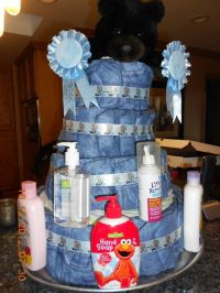 denim diaper cake | baby shower diaper cakes and favors ...
