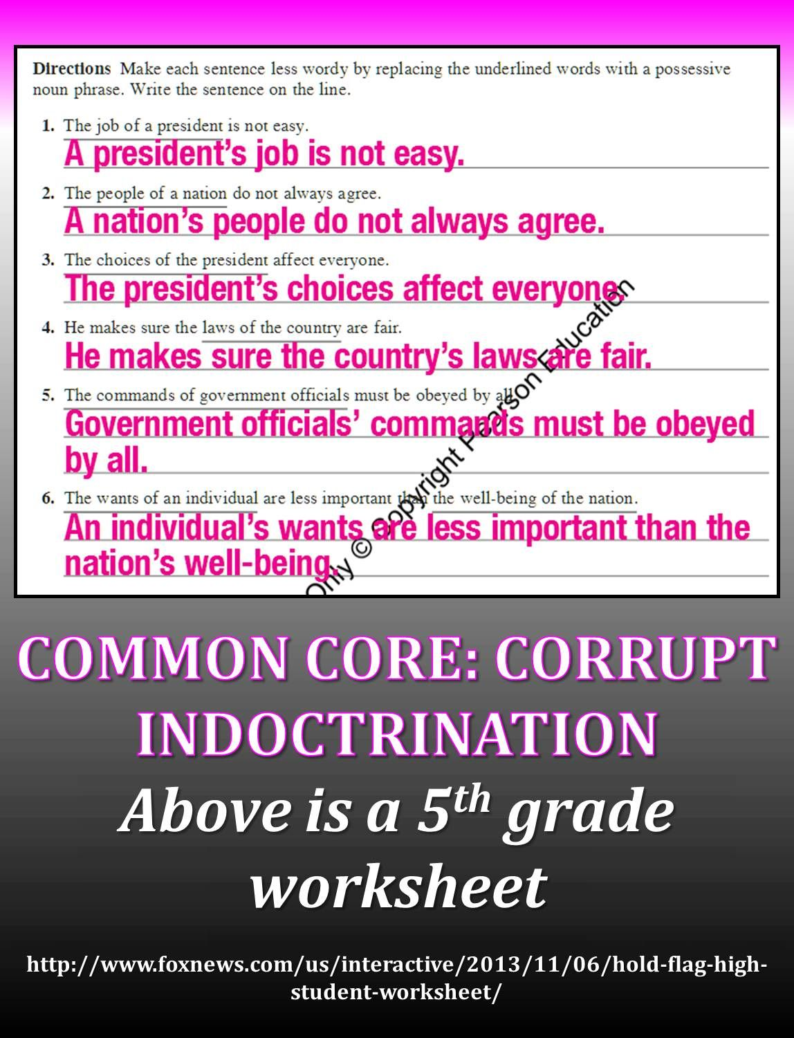 Common Core Lessons Blasted For Sneaking Politics Into Elementary Classrooms