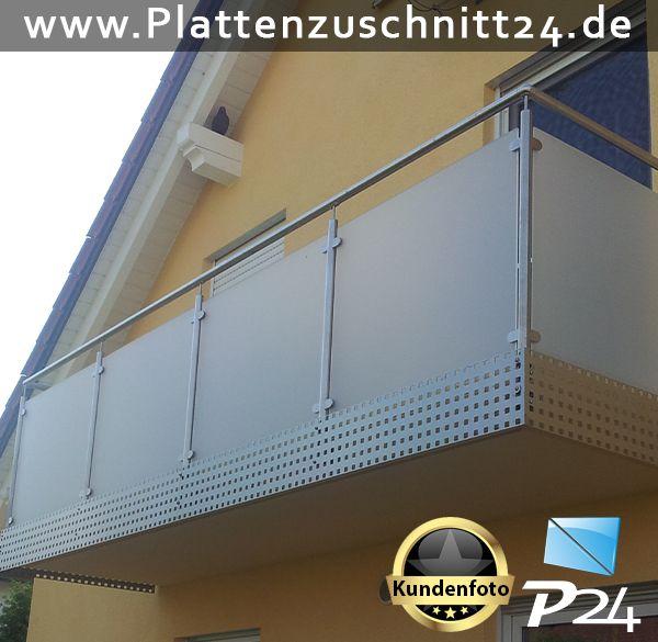 Balkonverkleidung mit PLEXIGLAS Satiniert  Anwendungsbeispiele PLEXIGLAS Makrolon Dibond