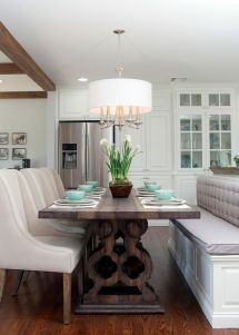 Fixer Upper Bench Island Seating