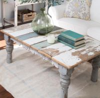 Distressed Painted Coffee Table | coffee tables ...
