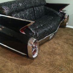 Cars Sofa Chair Sfc 1960 Black Cadillac Car Couch Real Steel And
