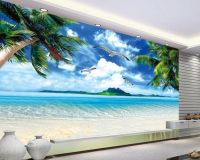 Wall paper Ocean Beach Murals scenery mural wallpaper ...