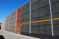 Black to white precast panels with colour from Peter Fell ...