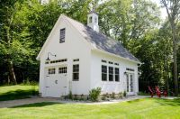 Detached garage plans shed farmhouse with carriage doors ...