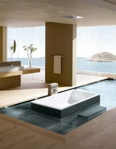 Bathroom uncategorized marvelous modern interior design idea like  terrace with wood floor and infinity pool concept also beautiful scenery google image result for http cdn home designing wp content rh pinterest