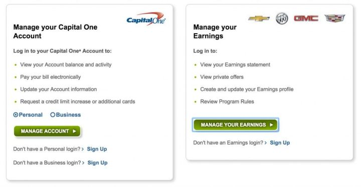 Capital one gm rewards card login thedoctsite capital one gm credit card account login poemview co colourmoves