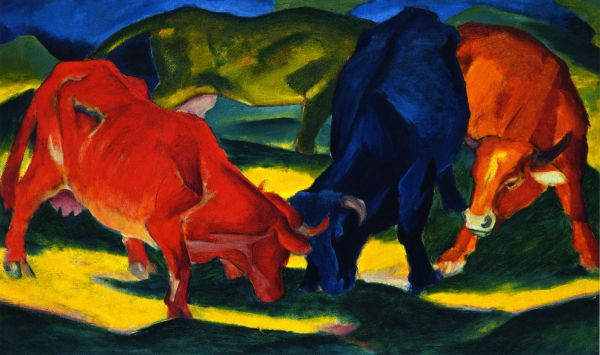 Athenaeum - Fighting Cows Franz Marc August Macke