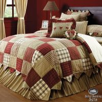 Country Red Green Patchwork Twin Queen Cal King Quilt