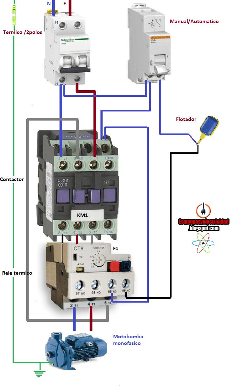 star delta wiring diagram control 2002 gmc sonoma radio esquemas eléctricos: arranque motobomba monofasica manual automatico y ... | eléctricos