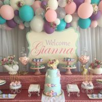 Shabby Chic - Vintage Mermaid Baby Shower Party Ideas ...