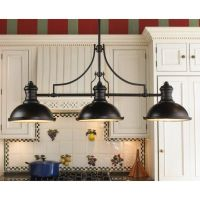 Image of Rustic Kitchen Chandeliers Over Table also ...