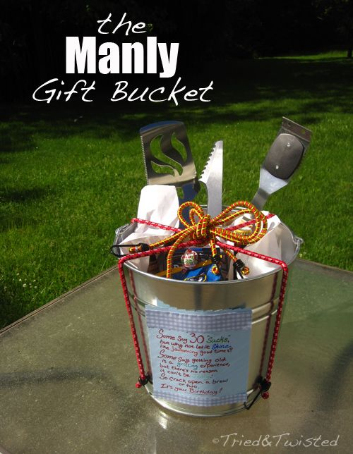 Manly Gift Bucket A New Kind Of T Basket Tried & Twisted