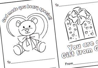 Free Preschool Craft Idea: Valentines Coloring Cards