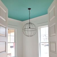 bright aqua blue ceiling | Benjamin Moore Skydive paint ...