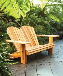 Diy Double Adirondack Chair Plans Make Loveseat