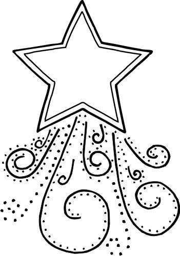 Dibujo Estrella De Navidad Para Colorear