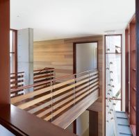 Indoor Bridge And Railings Design Using Wood Ideas Photo
