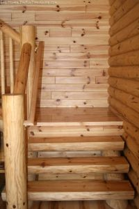 How We Chose A Log Staircase For Our Log Cabin | Fun time ...