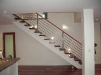 modern stairs metal wood railing - Google Search | Modern ...