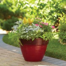 "15"" Rust Dubai Decorative Planter Love Container"
