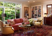 Colored crown molding living room traditional with ...